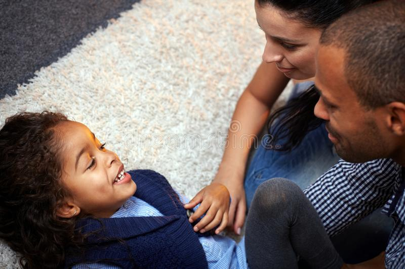 Download Family fun at home stock image. Image of afro, home, hair - 25700761