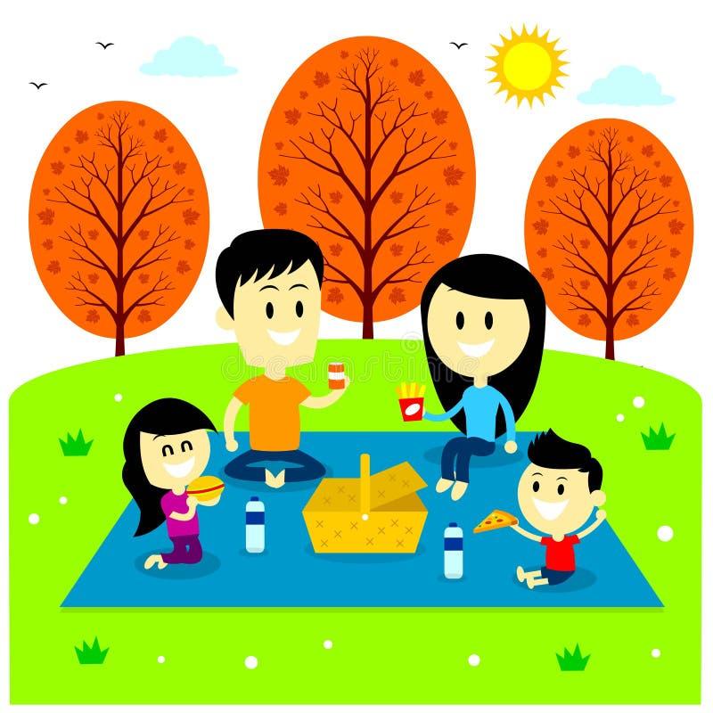 Family Picnic Cartoon Images