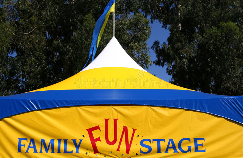 Family Fun Stage Tent royalty free stock photography