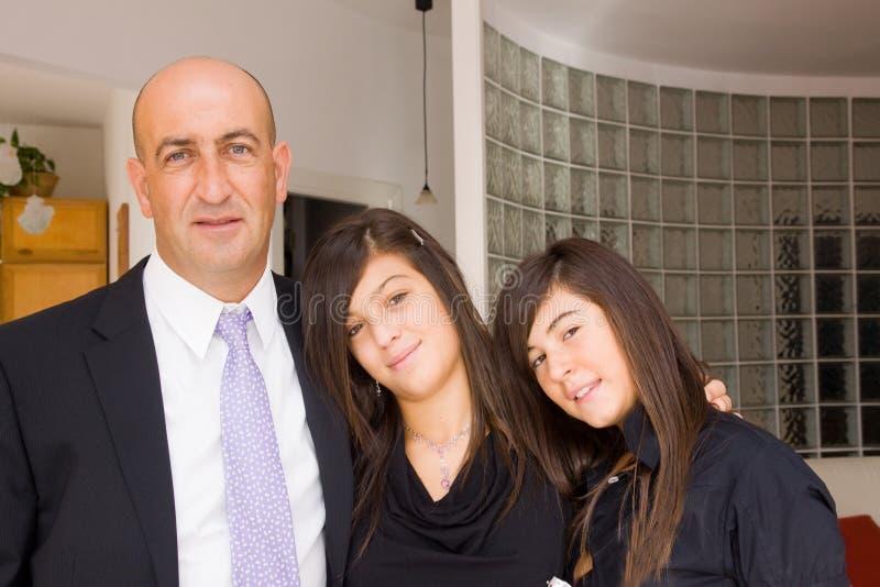 Family gathering stock photography