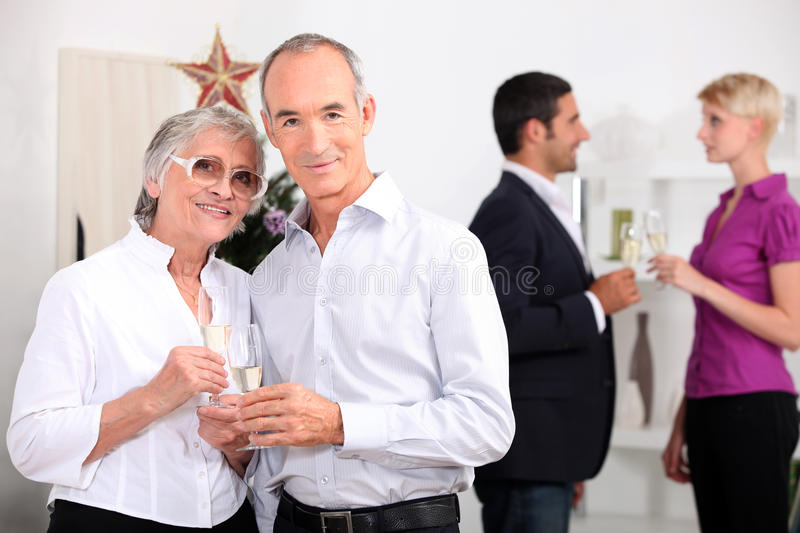 Family gathering at new year royalty free stock images