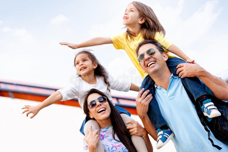 Download Family going on holidays stock photo. Image of kids, happy - 23878466