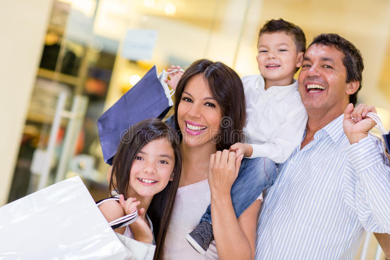 Download Family going shopping stock photo. Image of latin, customers - 30060660