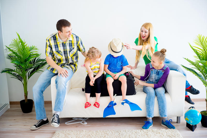 Download Family Going On Vacation Stock Image Of Beautiful