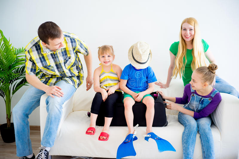 Download Family Going On Vacation Stock Image Of Clothes