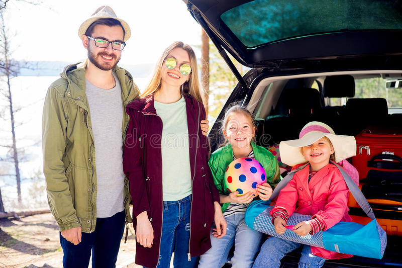 Download Family Going On Vacation Stock Photo Image Of Lifestyle