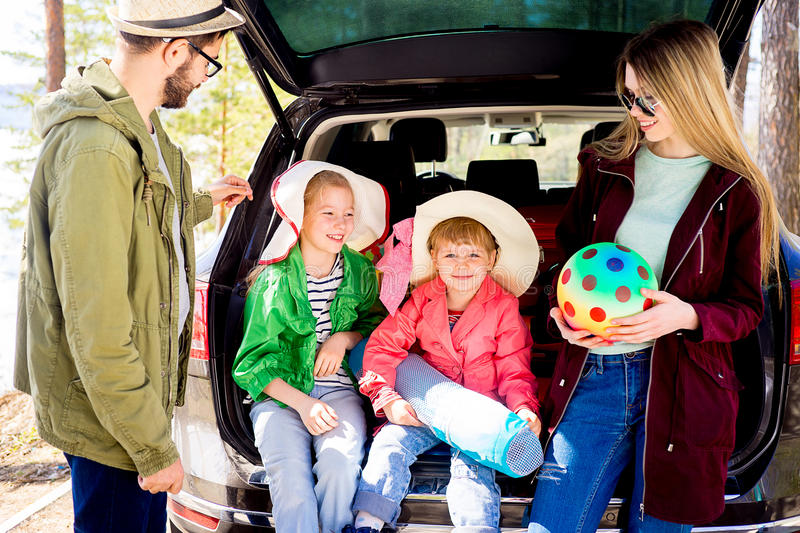 Download Family Going On Vacation Stock Image Of Happiness