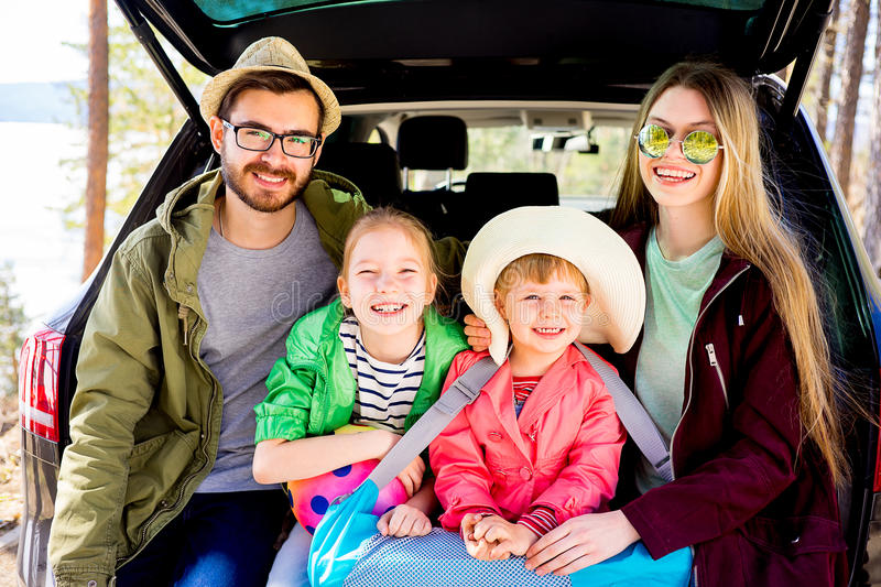 Download Family Going On Vacation Stock Image Of Outdoors
