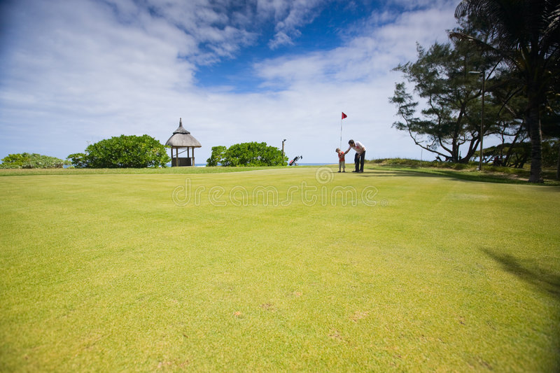 Family Golf royalty free stock photography