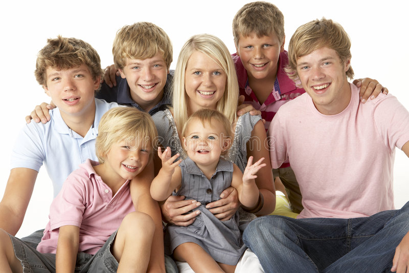 Family Group Happy Together stock photos