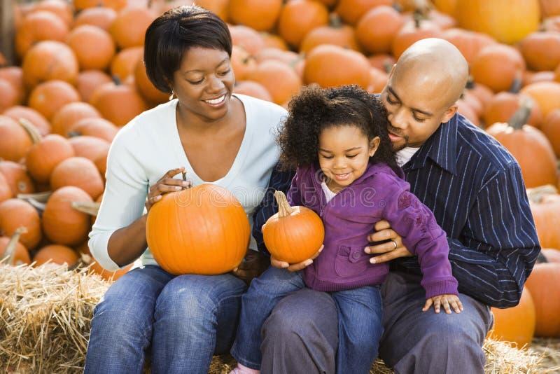 Family at Halloween. stock photos