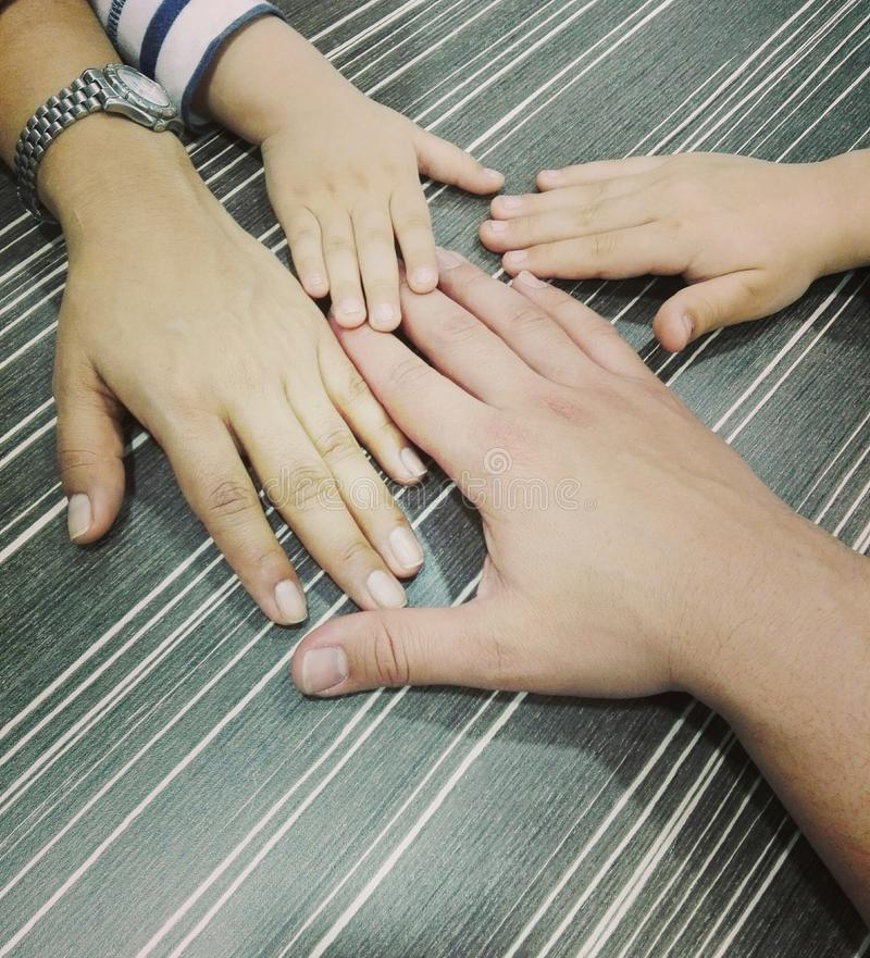 Family hands stock photography