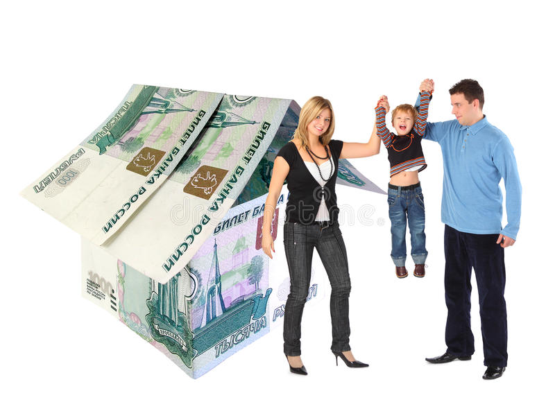 Download Family With Hanging Boy And Rubles House Collage Stock Photo - Image: 17886880