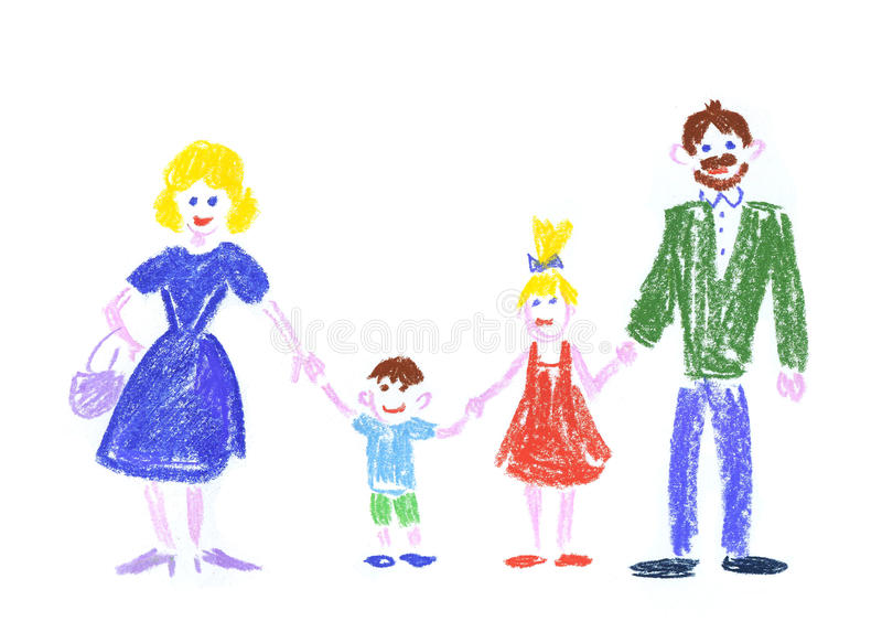 Family happiness royalty free illustration