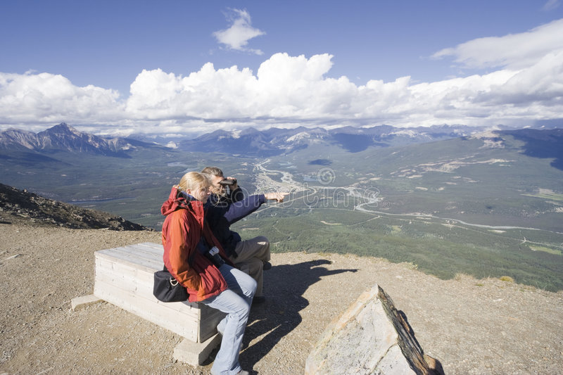 Download Family Having A Break On The Top Of A Mountain Stock Photo - Image: 6225000