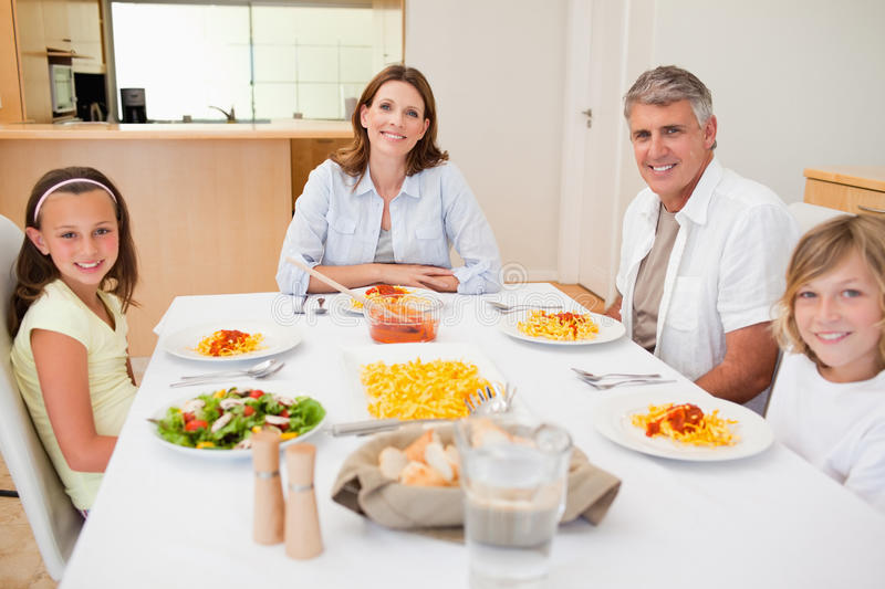 Download Family having dinner stock photo. Image of delicious - 22440406