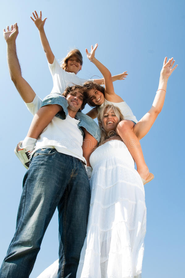 Family having fun royalty free stock photos