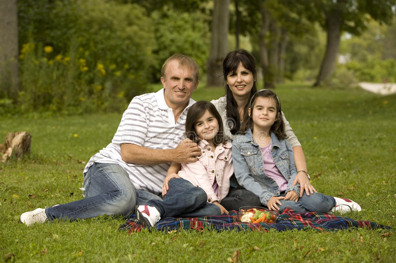 Download Family having picnic stock image. Image of outside, outdoors - 21220375