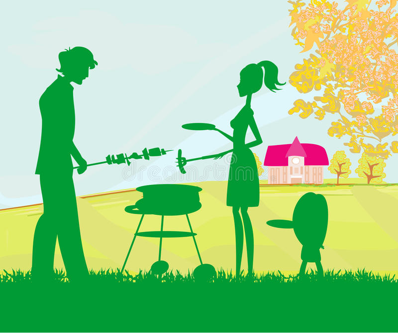 Family Having A Picnic In A Park Stock Images
