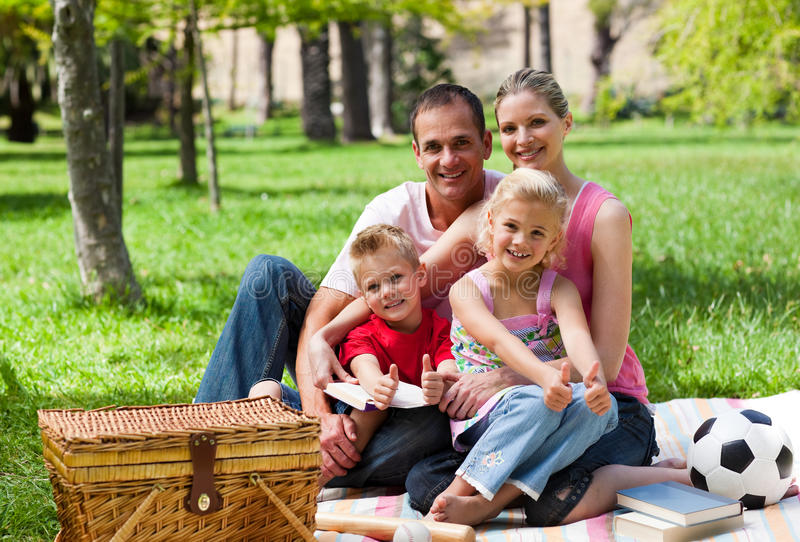 Download Family Having A Picnic Smiling At The Camera Stock Photo - Image: 12053752