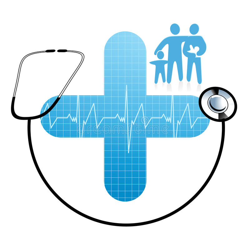 Family health care vector illustration