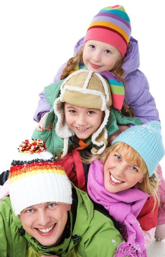 Family heap stock photo