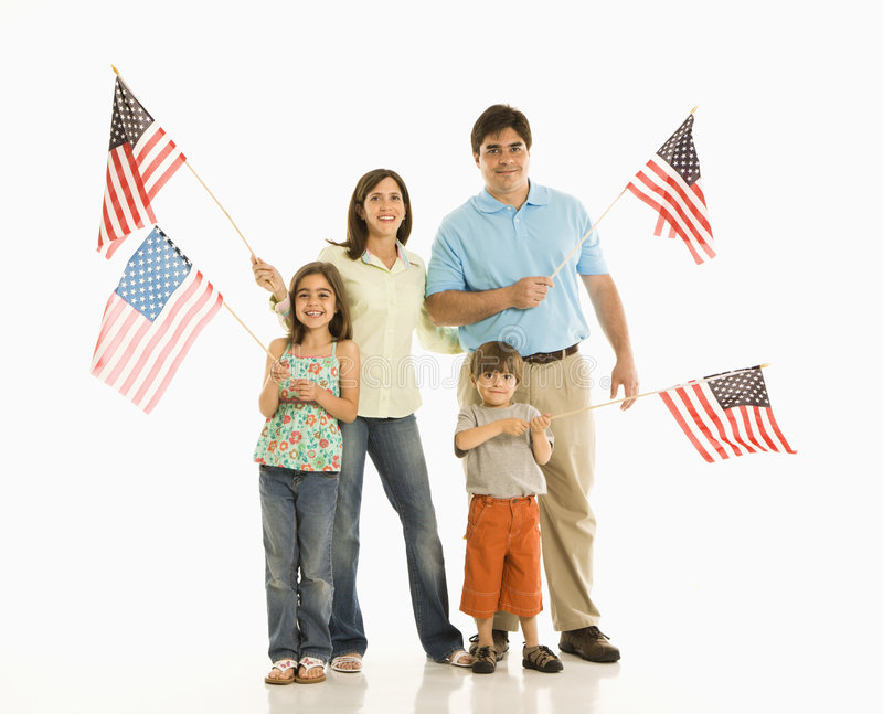 Download Family Holding American Flags. Royalty Free Stock Photo - Image: 2771675