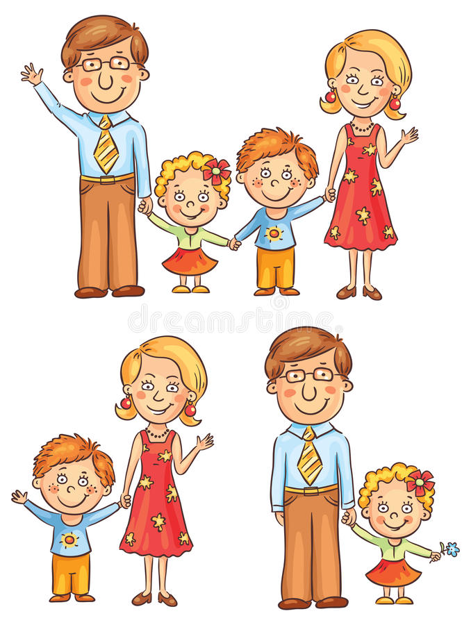 Family Holding Hands royalty free illustration