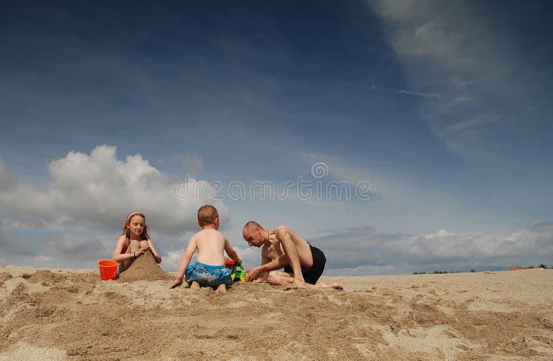 Family holiday stock image
