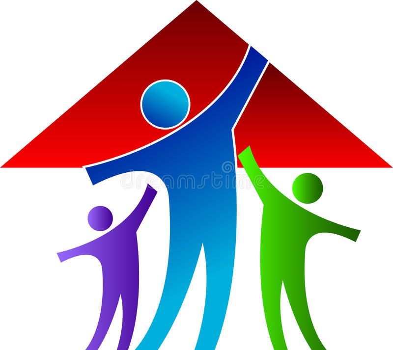 Family home royalty free illustration