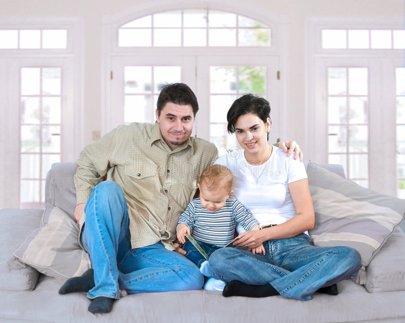 Download Family at home stock photo. Image of jeans, male, life - 2494592