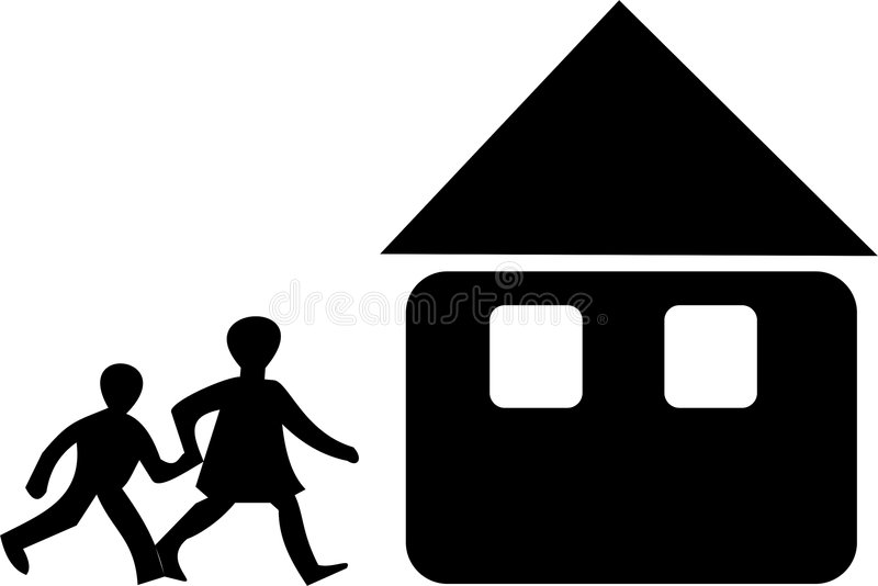 Download Family at home stock vector. Image of hold, teenagers - 4068810