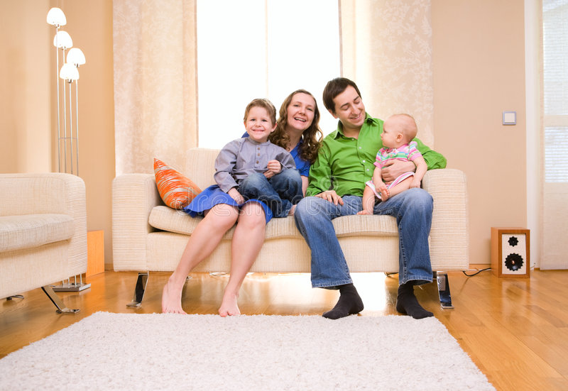 Download Family at Home stock image. Image of happiness, baby, generation - 8626979