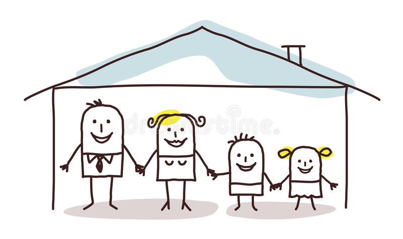 Family and home royalty free illustration