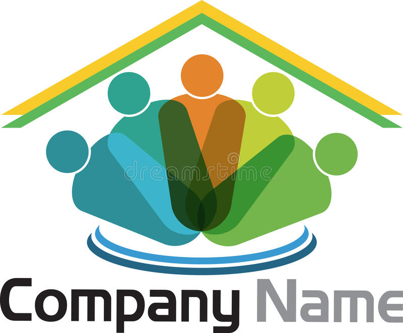 Family home logo vector illustration