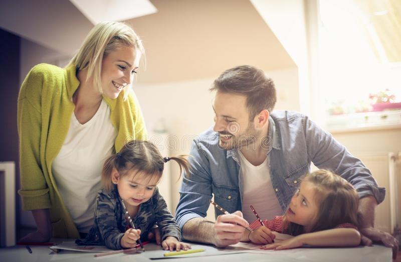 Smiling happy family. royalty free stock images