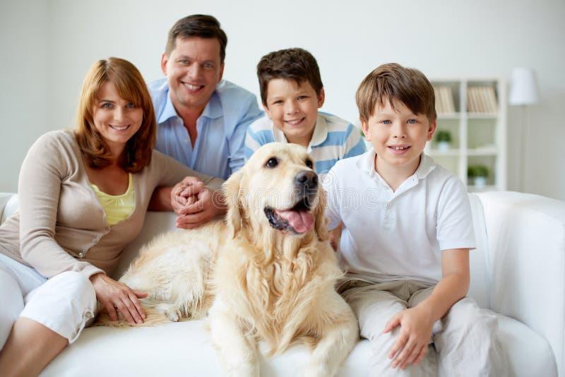 Family at home royalty free stock photos