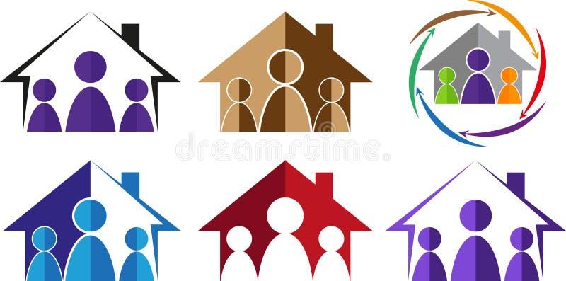 Family home stock illustration