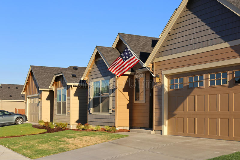 Family homes. In suburban neighborhood royalty free stock photos