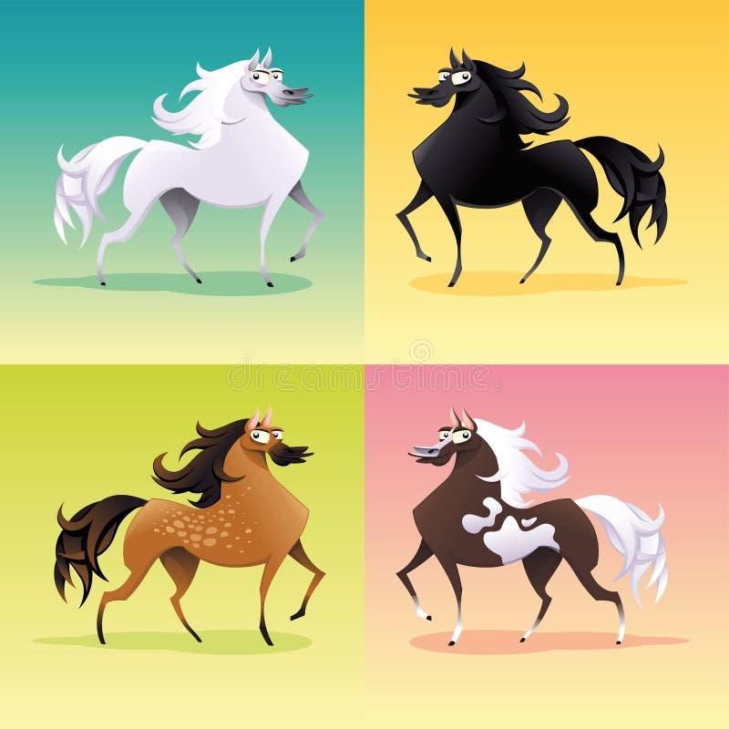 Family Of Horses. Stock Photography