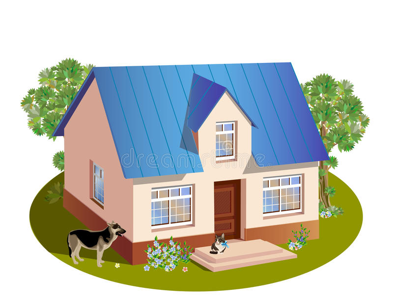Download Family  house stock vector. Image of development, dwelling - 18095394