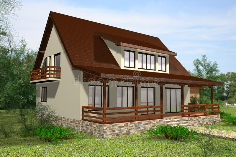 Download Family house stock illustration. Image of concept, residential - 21421376