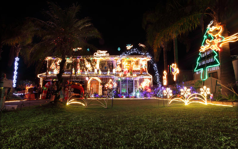 Download Family House Decorated With Christmas Lights And Decorations Editorial Photo - Image: 35965371
