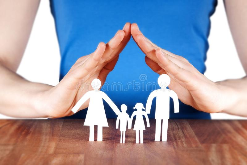 Family With House Of Hands Stock Image