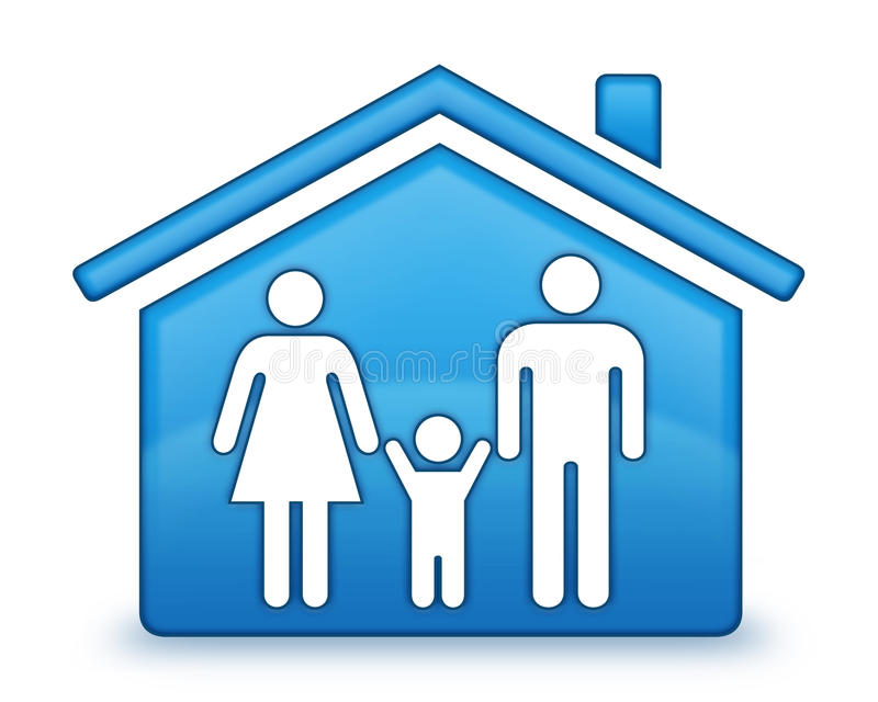 Download Family House Icon Royalty Free Stock Photography - Image: 10367107