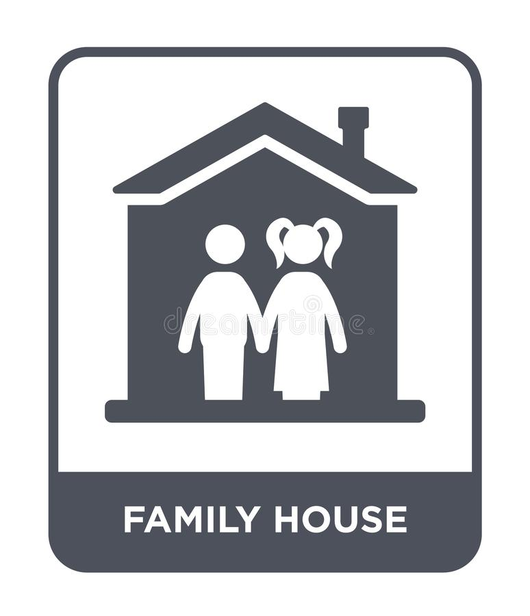 family house icon in trendy design style. family house icon isolated on white background. family house vector icon simple and vector illustration