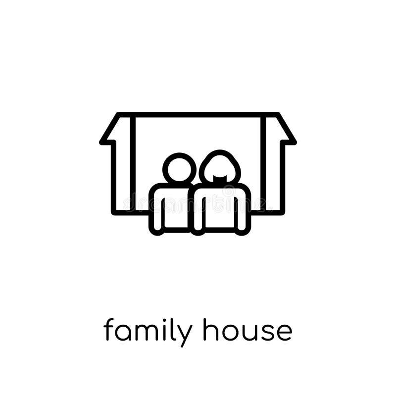 Family House icon. Trendy modern flat linear vector Family House stock illustration
