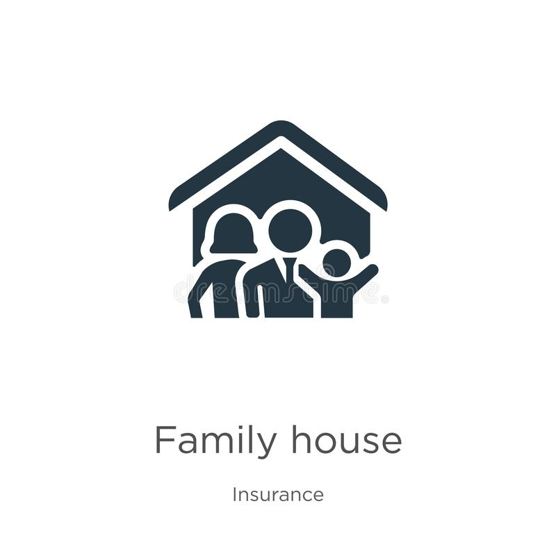 Family house icon vector. Trendy flat family house icon from insurance collection isolated on white background. Vector. Illustration can be used for web and vector illustration
