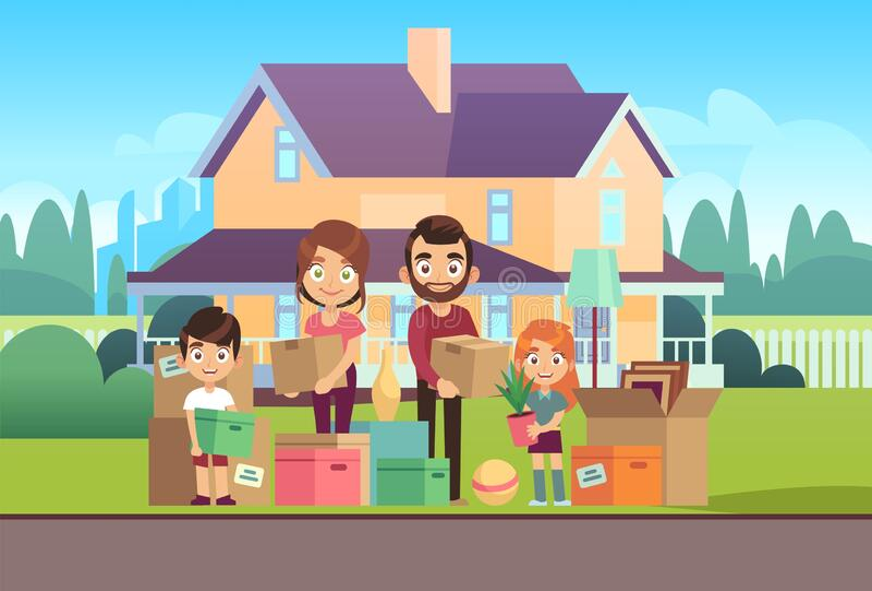 Cartoon Move House Stock Illustrations – 1,139 Cartoon Move House Stock  Illustrations, Vectors & Clipart - Dreamstime