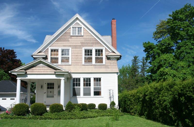 Family House: Neighborhood Street stock photo